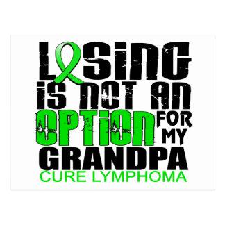Losing Not Option Lymphoma Grandpa Postcard