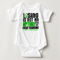 Losing Not Option Lymphoma Great Grandma Baby Bodysuit