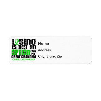 Losing Not Option Lymphoma Great Grandma Label