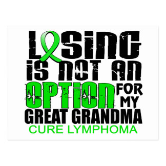 Losing Not Option Lymphoma Great Grandma Postcard