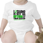 Losing Not Option Lymphoma Twin Sister Bodysuit