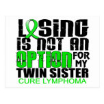 Losing Not Option Lymphoma Twin Sister Postcards