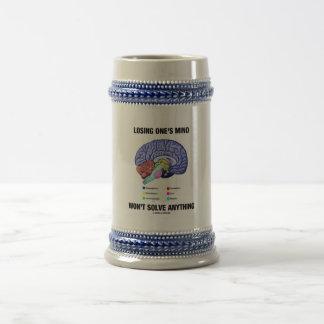 Losing One's Mind Won't Solve Anything (Brain) Beer Stein