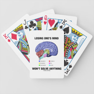 Losing One's Mind Won't Solve Anything Brain Humor Bicycle Playing Cards