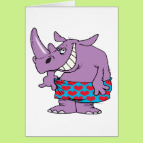 losing weight funny rhino in boxers card