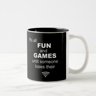 Losing WiFi Internet Coffee Mug - Black