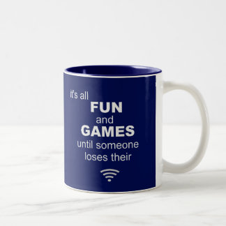 Losing WiFi Internet Coffee Mug - Blue