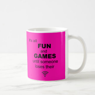 Losing WiFi Internet Coffee Mug - Bright Pink
