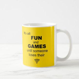 Losing WiFi Internet Coffee Mug - Bright Yellow