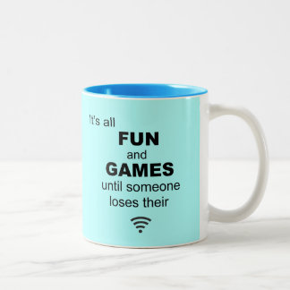 Losing WiFi Internet Coffee Mug - Light Blue