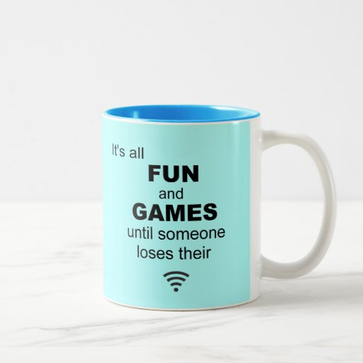 Losing WiFi Internet Coffee Mug - Light Blue