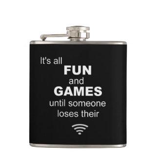 Losing WiFi Internet Hip Flask - Black