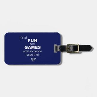 Losing WiFi Internet Luggage Tag - Blue