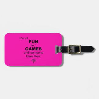 Losing WiFi Internet Luggage Tag - Bright Pink