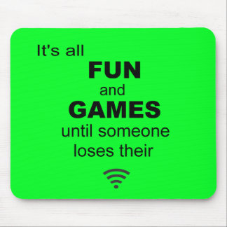 Losing WiFi Internet Mouse Mat - Bright Green Mouse Pad