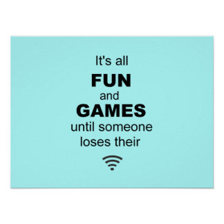 Losing WiFi Internet Poster - Light Blue