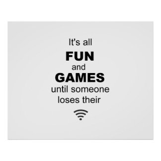 Losing WiFi Internet Poster - White