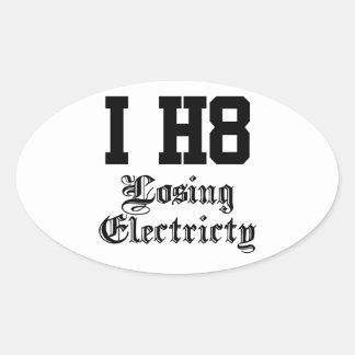 losingelectricity oval sticker