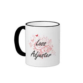 Loss Adjuster Artistic Job Design with Butterflies Ringer Mug