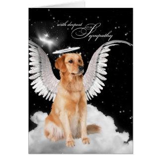 Loss of a Dog Golden Retriever Pet Sympathy Card