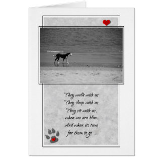 Loss of a Dog Pet Sympathy Card