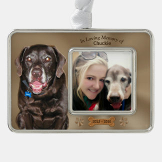 Loss of a Dog Sympathy Gifts 2 Photos 3 Text Boxes Christmas Ornament