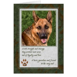 Loss of a Service Dog Pet Sympathy Card
