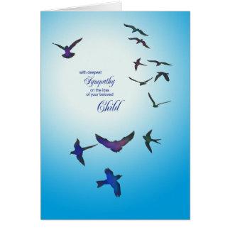 Loss of child, sympathy card, flying birds card