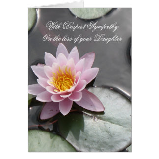 Loss of Daughter With Deepest Sympathy Card
