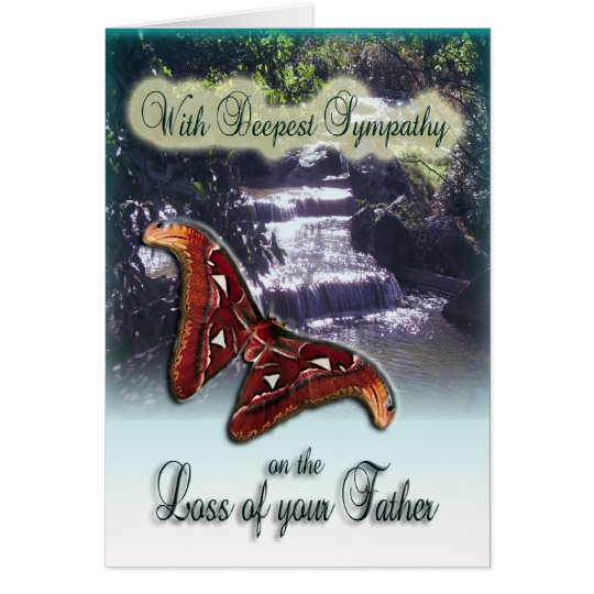 Sympathy Quotes For Loss Of Husband And Father: Loss Of Father - With Deepest Sympathy Card