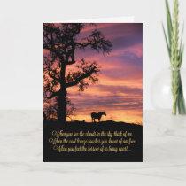 Loss of Horse, Horse Sympathy Card