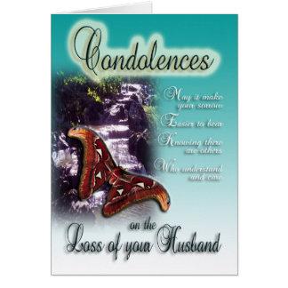 Loss of Husband - Condolences on your loss Card