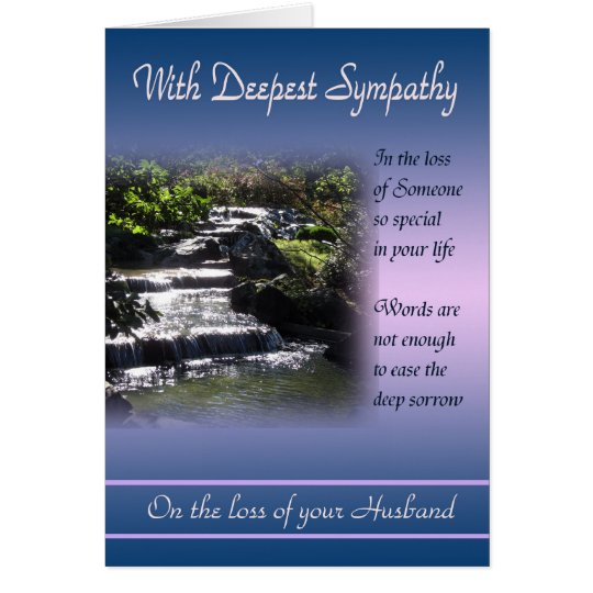 Loss Of Husband With Deepest Sympathy Card Zazzle