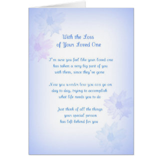 Loss of Loved One Original Poetry Greeting Card