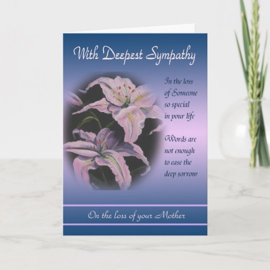 loss of mother with deepest sympathy card - Deepest Sympathy Card