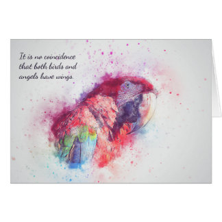 Loss of Pet Bird  Macaw Custom Sympathy Card