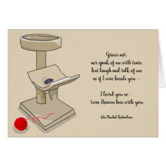 Loss of Pet Cat Richardson Quote Custom Sympathy Card