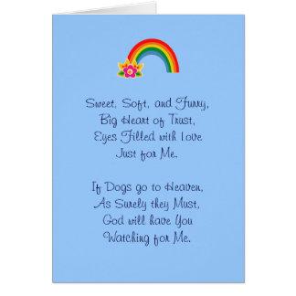 Loss of Pet Dog Comfort Card