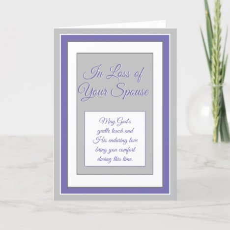 Loss of Spouse Christian Sympathy card