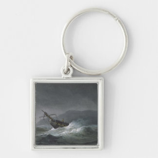 Loss of the Blanche, off Abrevack, 4th March, 1807 Keychain