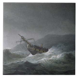 Loss of the Blanche, off Abrevack, 4th March, 1807 Tile