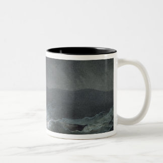 Loss of the Blanche, off Abrevack, 4th March, 1807 Two-Tone Coffee Mug