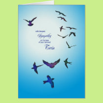 Loss of twin, sympathy card, flying birds card