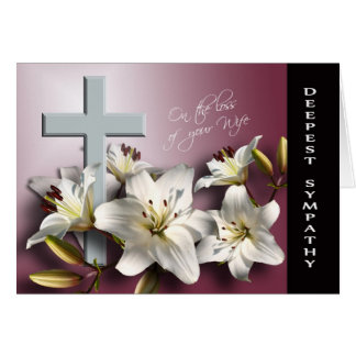 Loss of Wife - With Deepest Sympathy Card