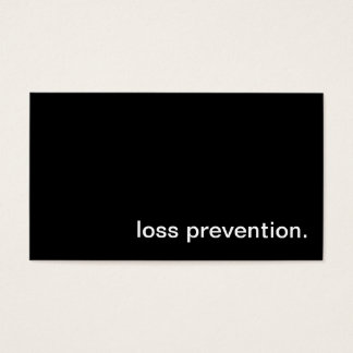 Loss Prevention Business Card