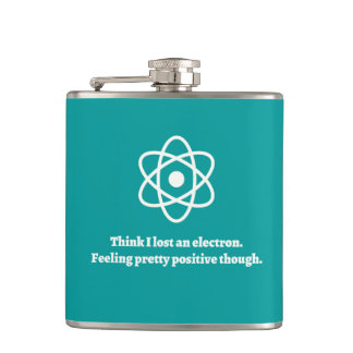 Lost an Electron Hip Flask