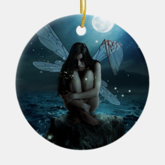 Lost and Broken Fairy Double-Sided Ceramic Round Christmas Ornament