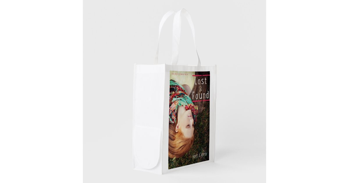 How To Make A Book Cover From Grocery Bag : Lost and found book cover reusable grocery bag zazzle