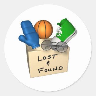 Lost And Found Classic Round Sticker