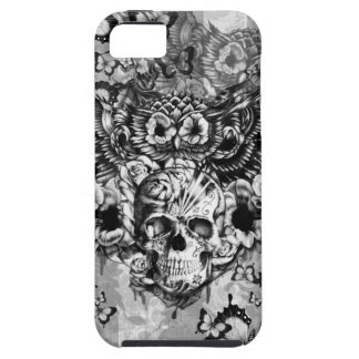 Lost and found, floral owl with sugar skull iPhone SE/5/5s case